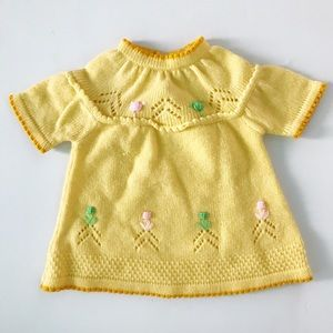 Vintage Yellow Knitted Dress/Shirt
